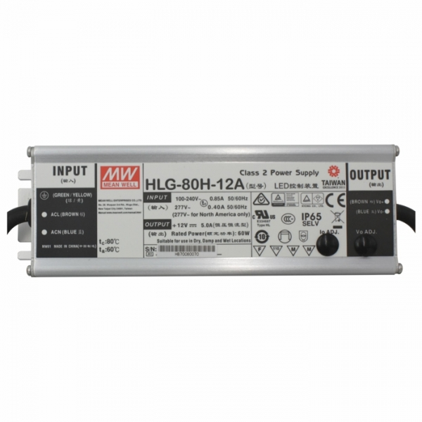 Mean Well power supply 12V DC 60W HLG-80H-12A