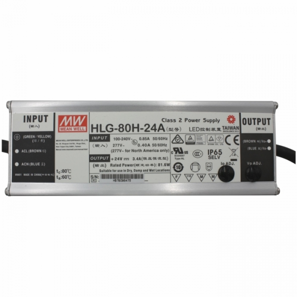 Meanwell power supply 24V DC 80W HLG-80H-24A