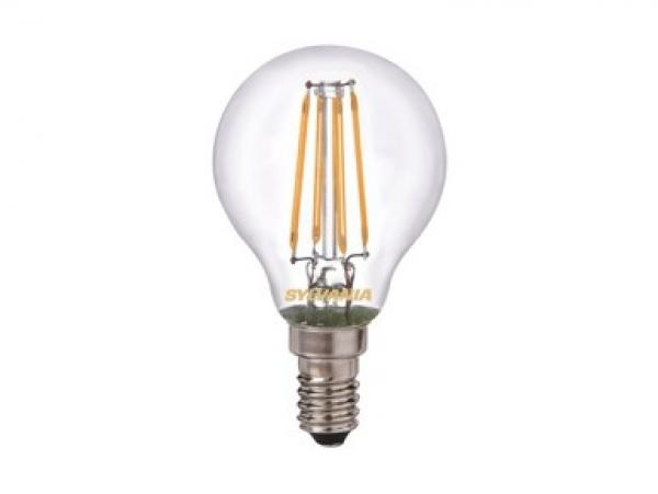 Sylvania led lampe e14 retro ball 4w warmweiss greuter leuchten
