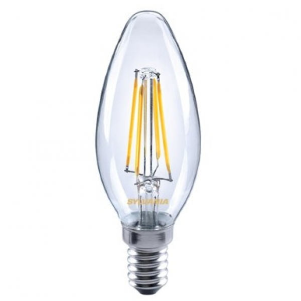 Sylvania LED Lampe E14 Retro Candle 4W warmweiss